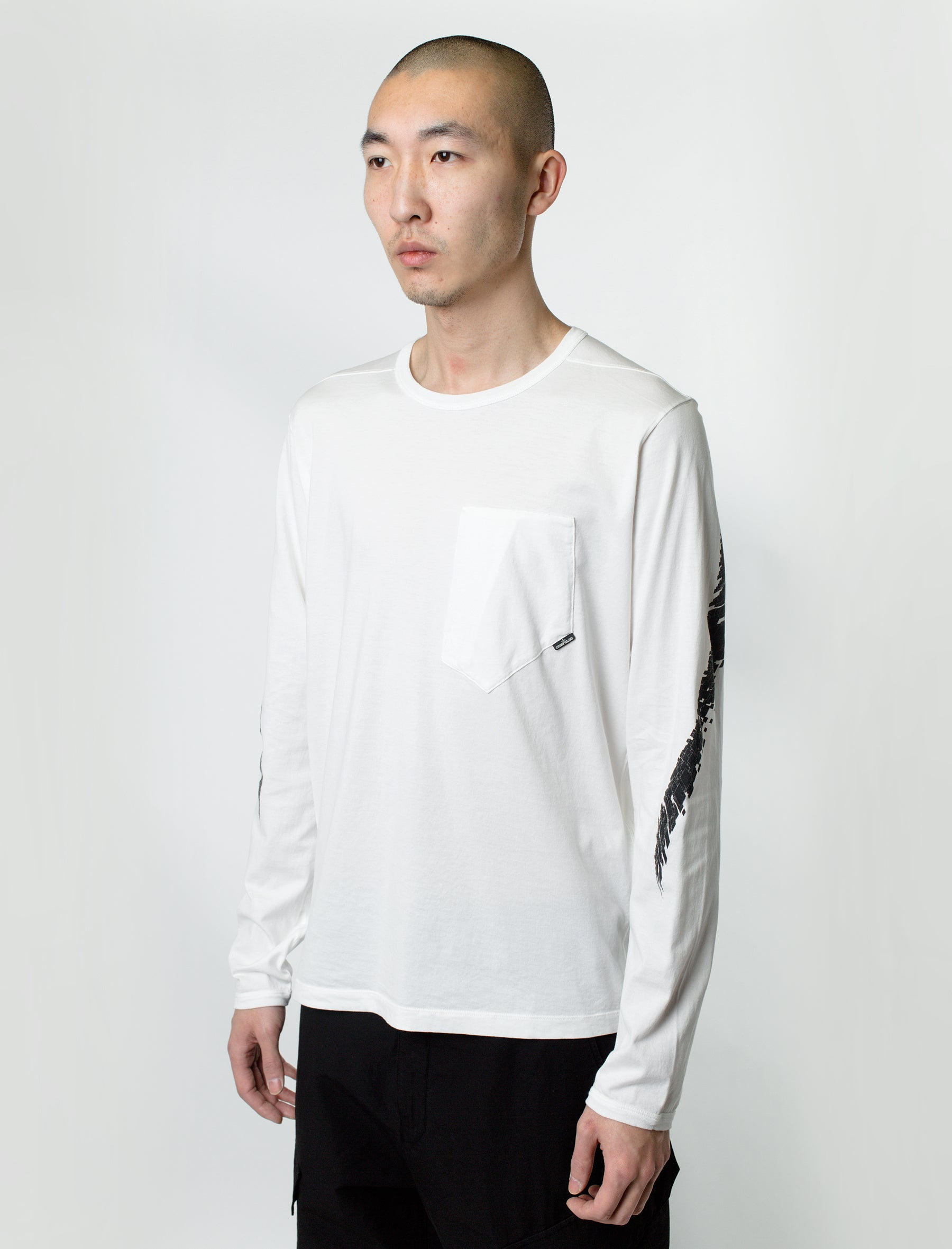 d5071bc5 Stone Island Shadow Project Long Sleeve Tee White ...