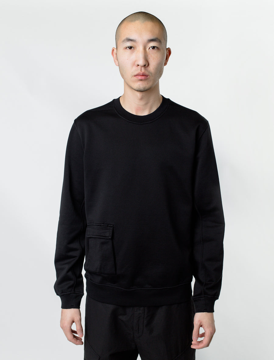 Stone Island Shadow Project Pocket Crewneck Sweater Black