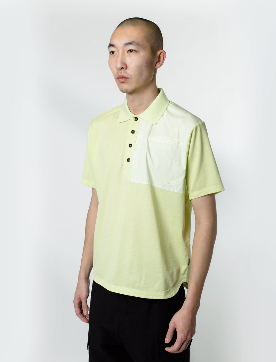 Stone Island Shadow Project Pique Cotton Polo Pistachio