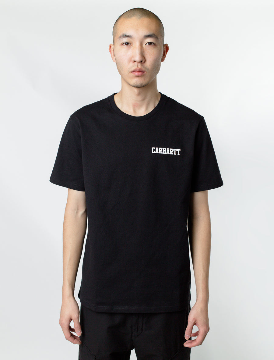 Carthartt S/S College Script Tee Black