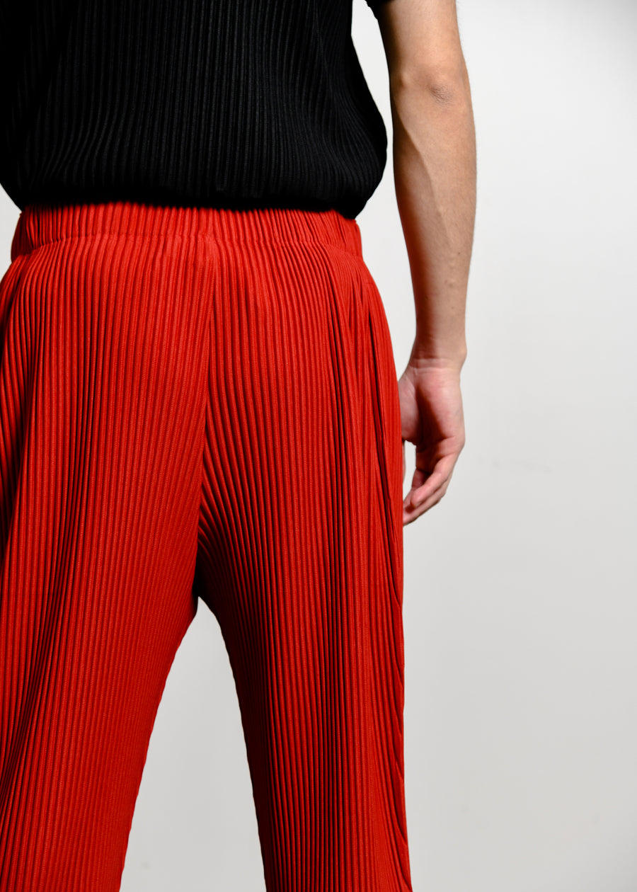 Colourful Pleated Trouser Coral Red JF149