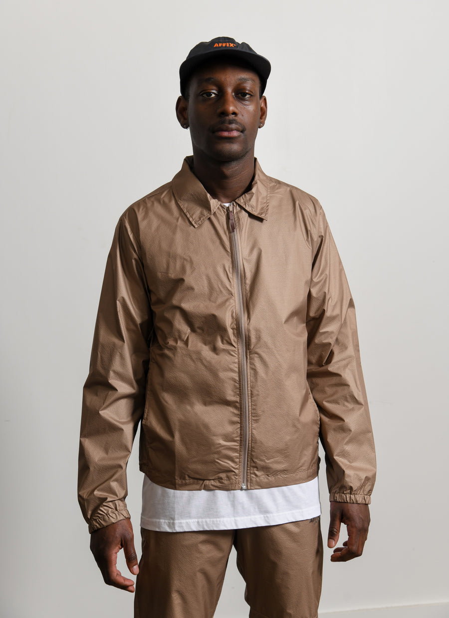 Technical Coaches Jacket Beige