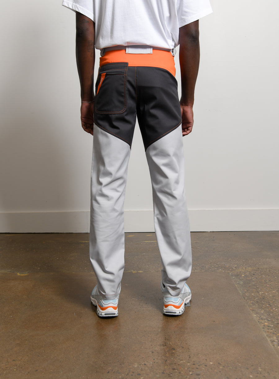 Tri-Colour Work Pant Light Grey/Dark Grey/Orange
