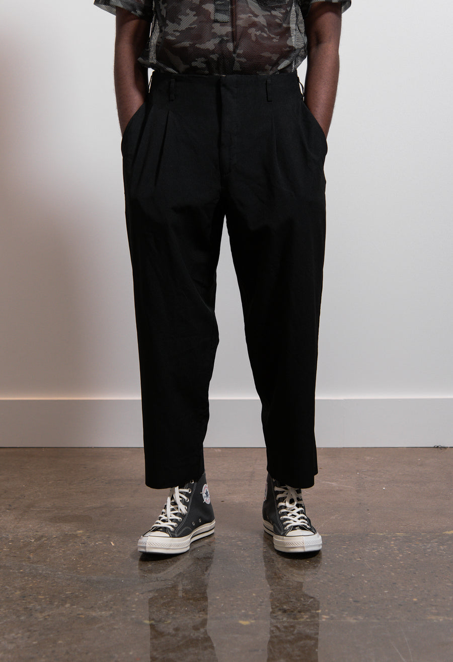 CDG Homme Plus Polyester Oxford Garment Treated Pant Black