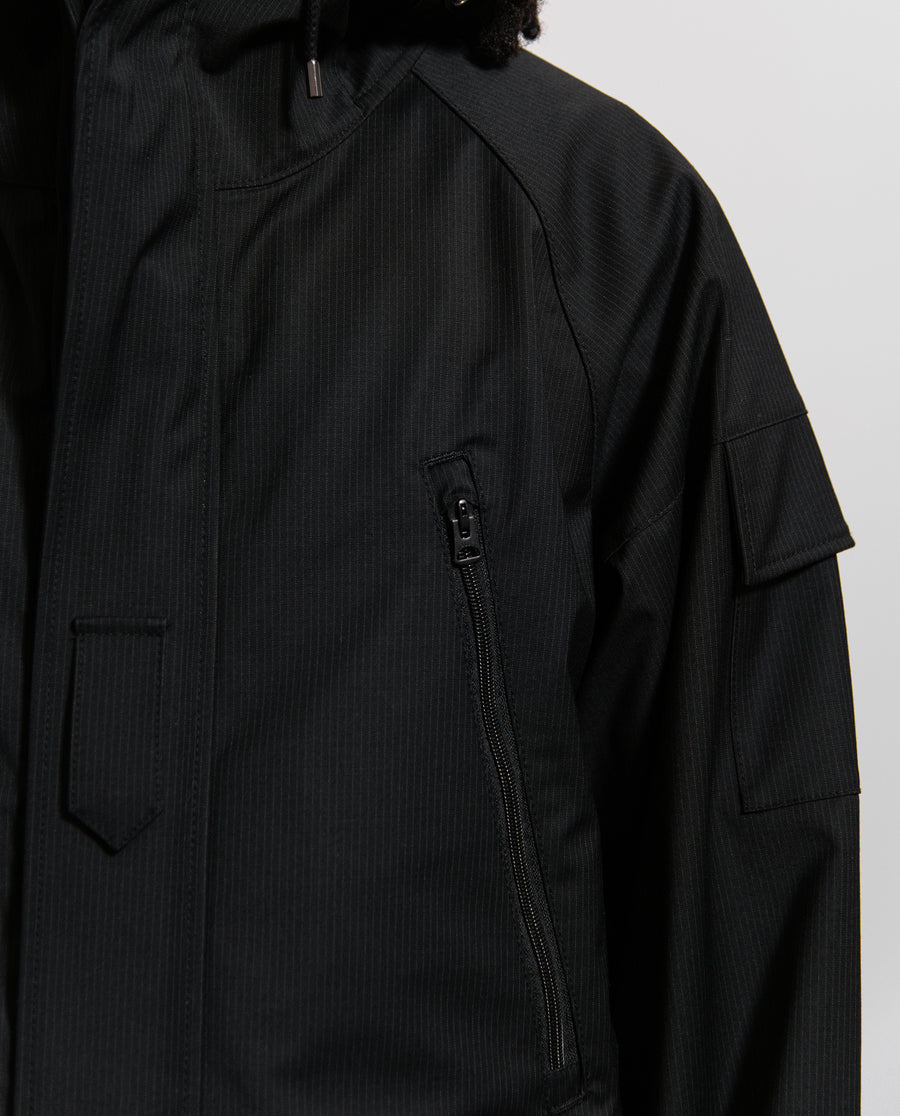 Junya Watanabe Wool Laminated Jacket Black