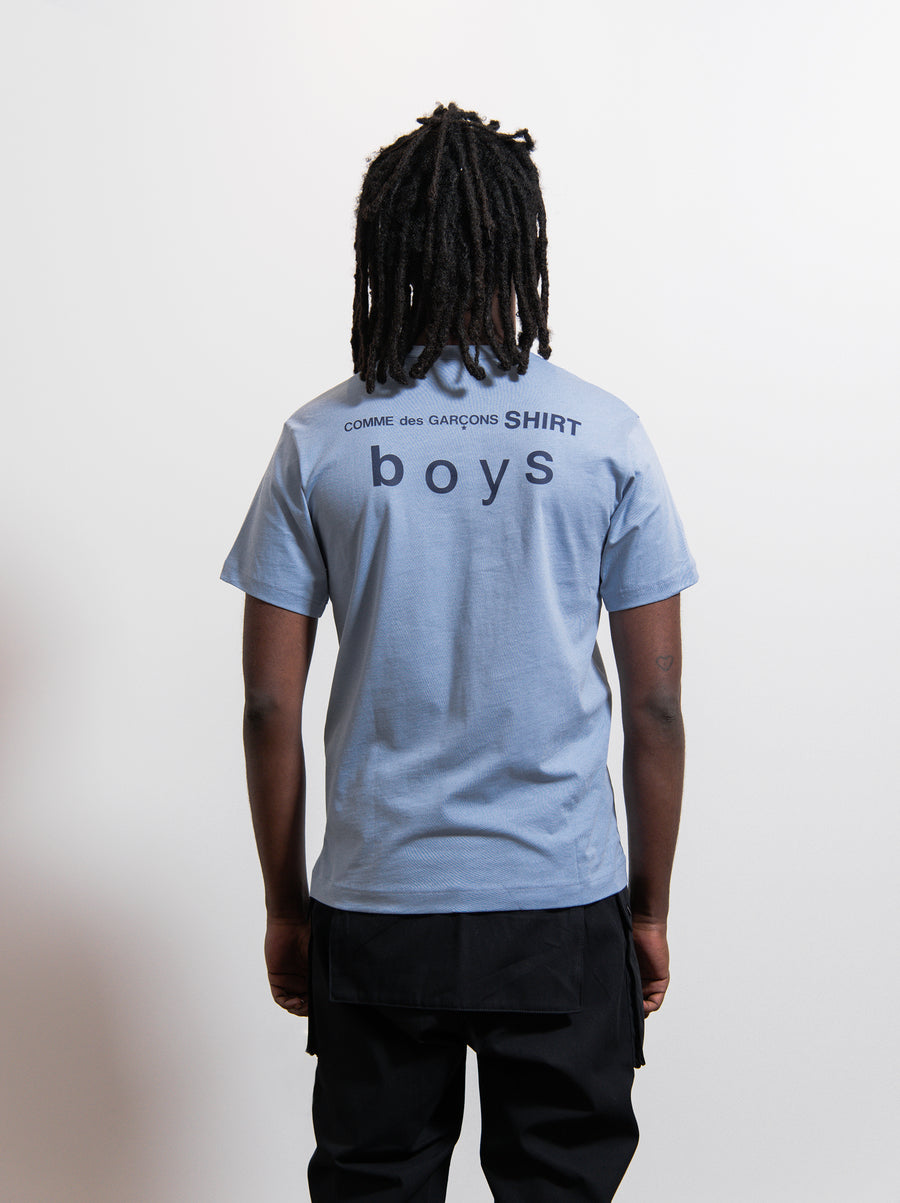 CDG SHIRT Boy Logo Tee Light Blue