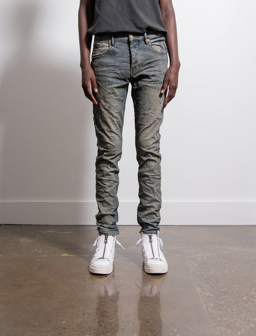 001 Slim Fit Jean Indigo Oil Repair