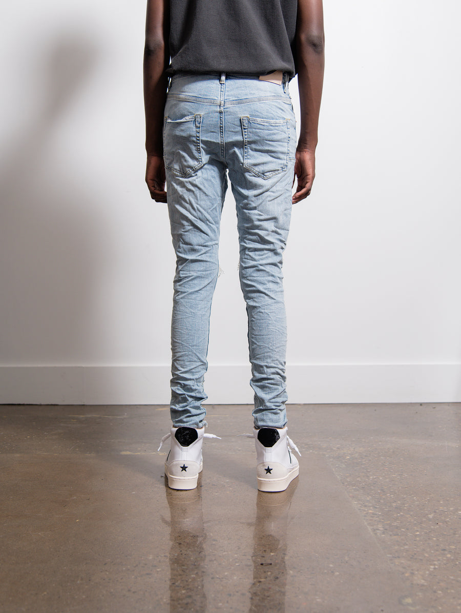 002 Dropped Fit Mid Rise Tapered Jean Light Indigo Blowout