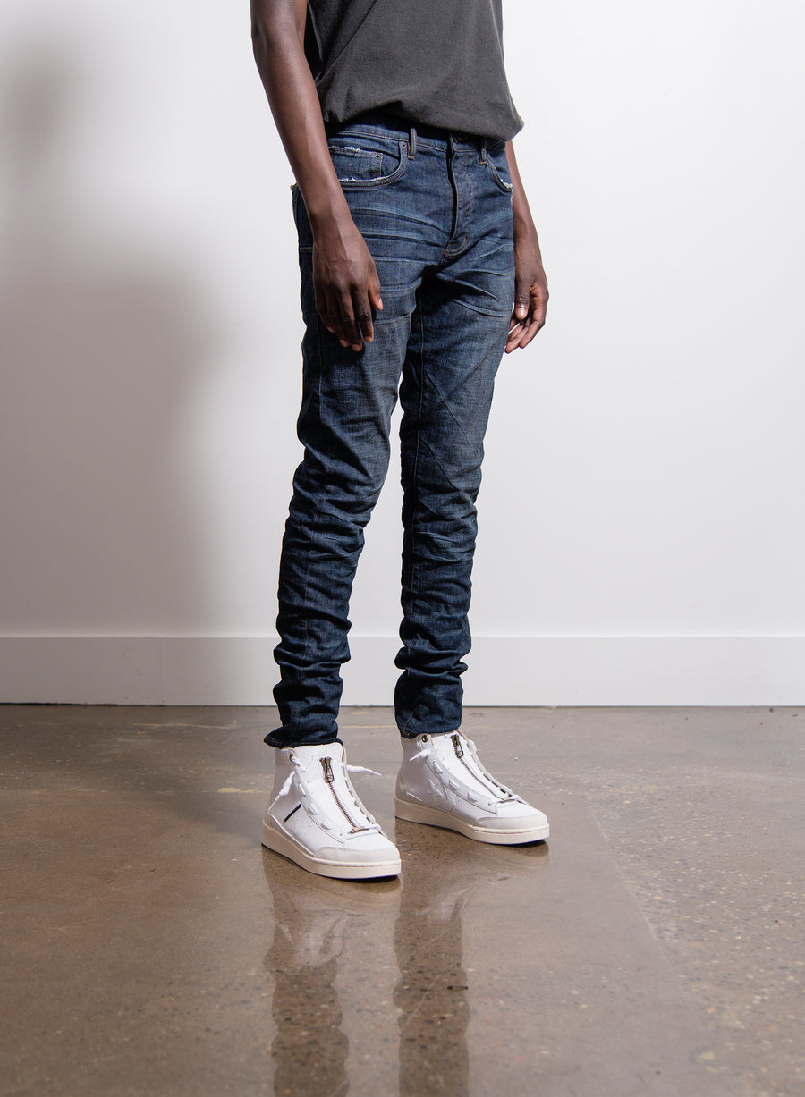 001 Slim Fit Jean Black Indigo Laser Wash
