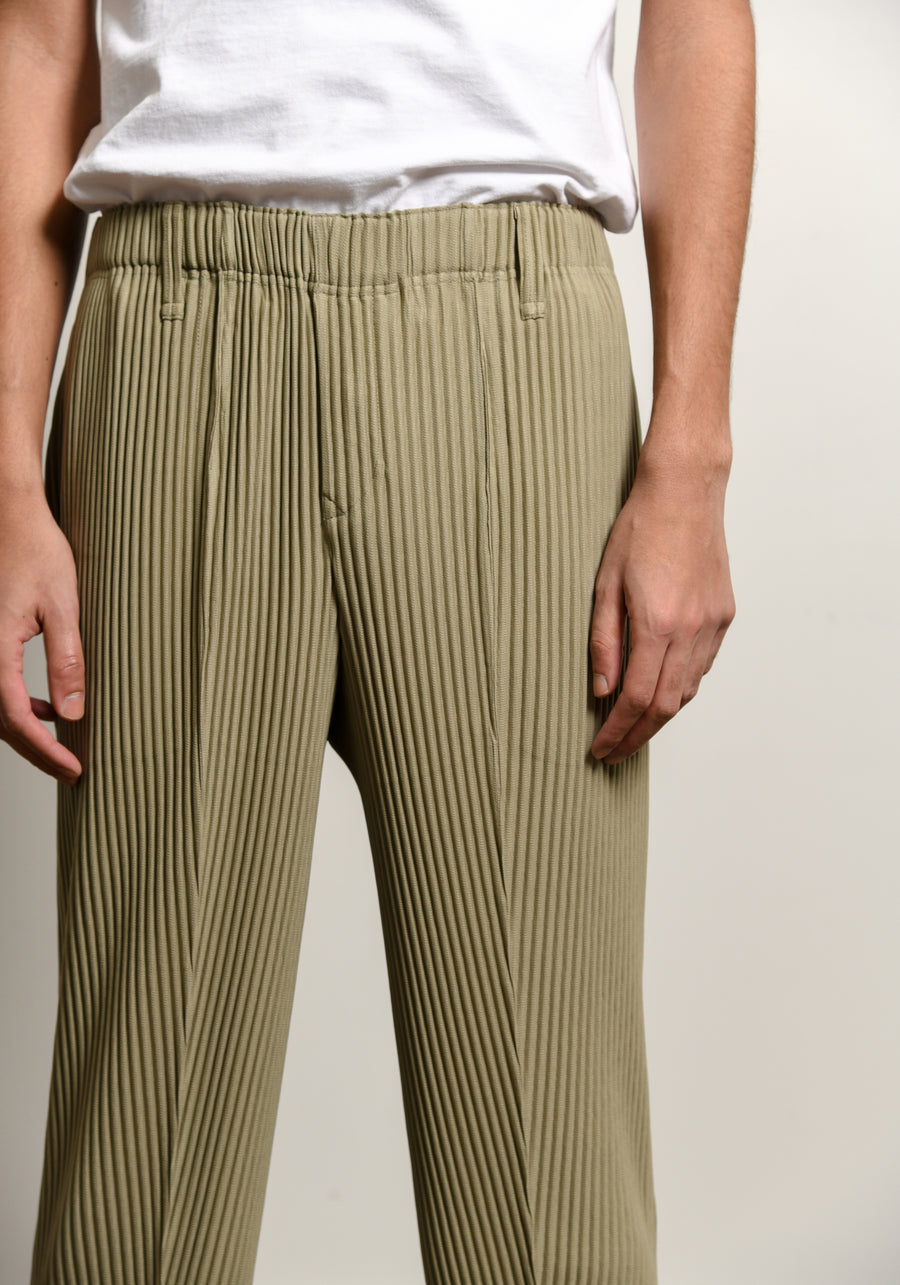 Rock Pleated Trouser Cork Khaki Beige JF218