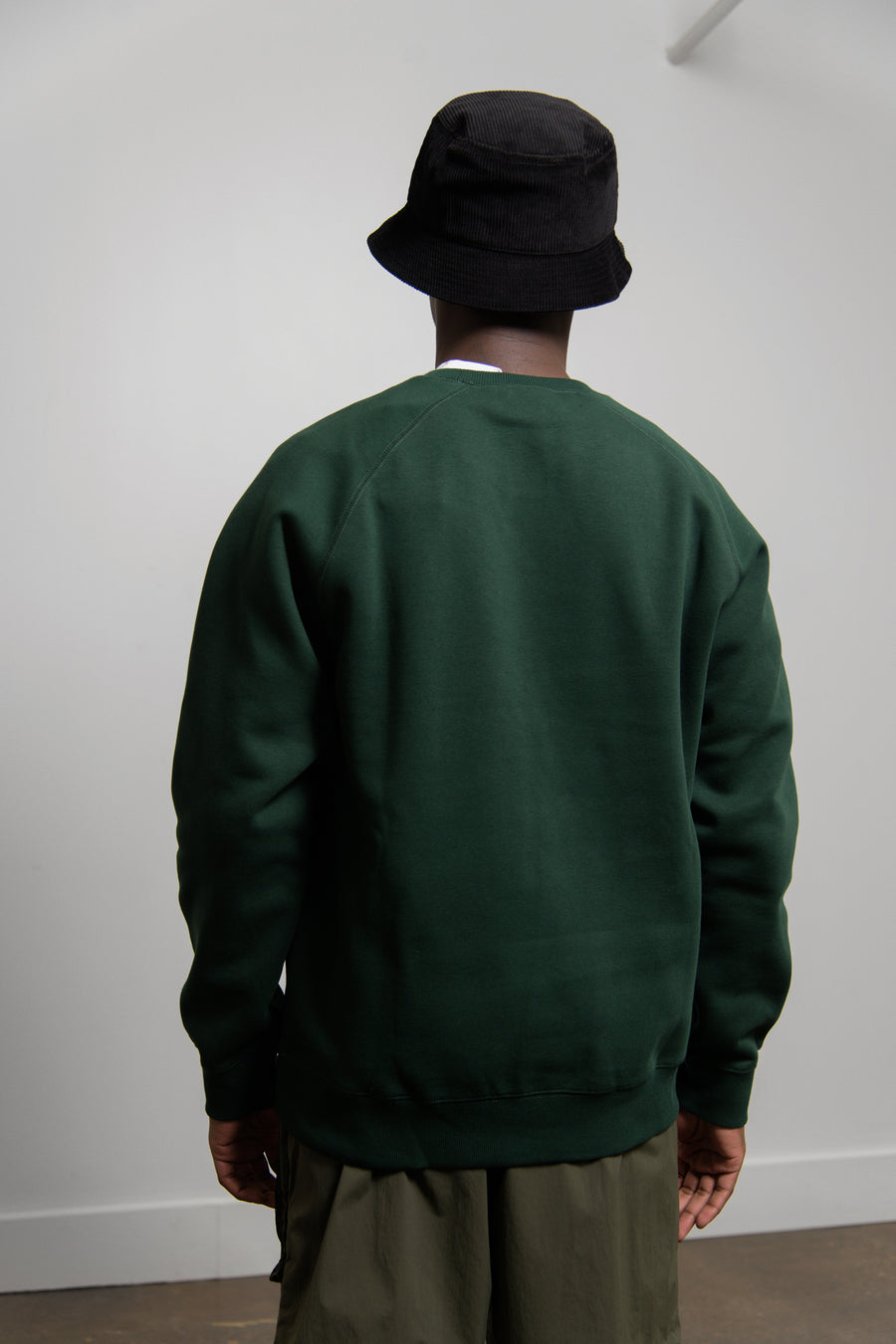 Chase Crewneck Sweater Bottle Green/Gold