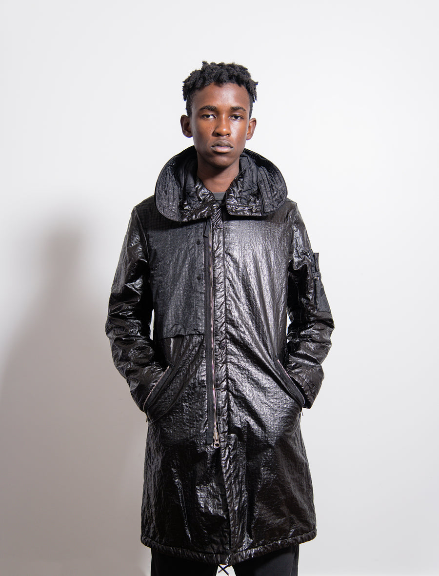 70403 Quilted Fishtail Parka Black