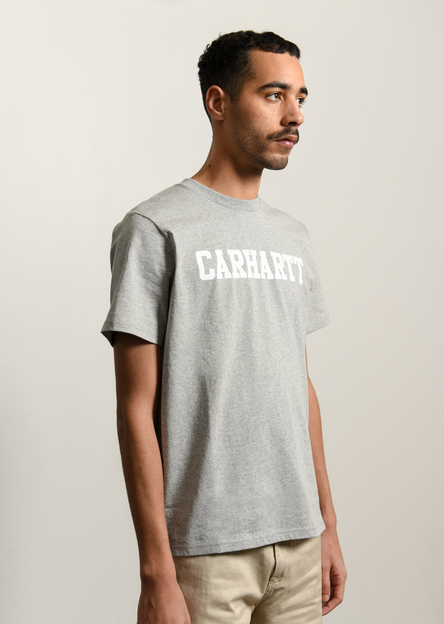 College Tee Grey/White