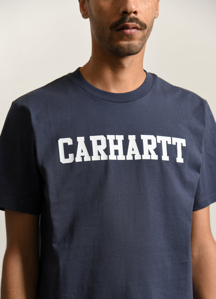 College Tee Blue/White