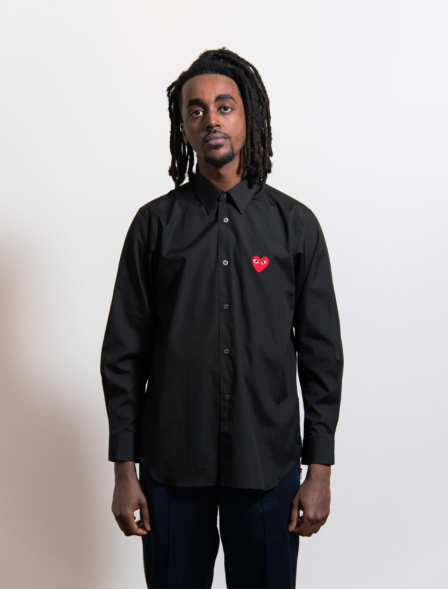 CDG PLAY Emblem Shirt Black/Red
