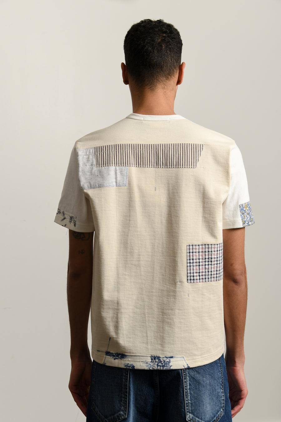 Patchwork Tee White T016