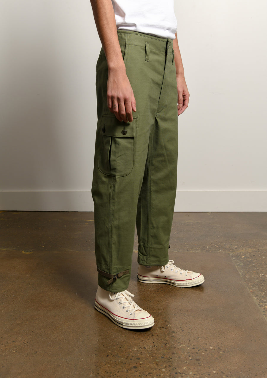 Cotton Back Satin Cargo Pant Olive P034