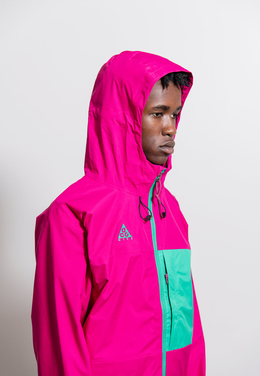 NRG ACG Packable Hooded Jacket Sport Fuchsia/Lucid Green BQ7340-607