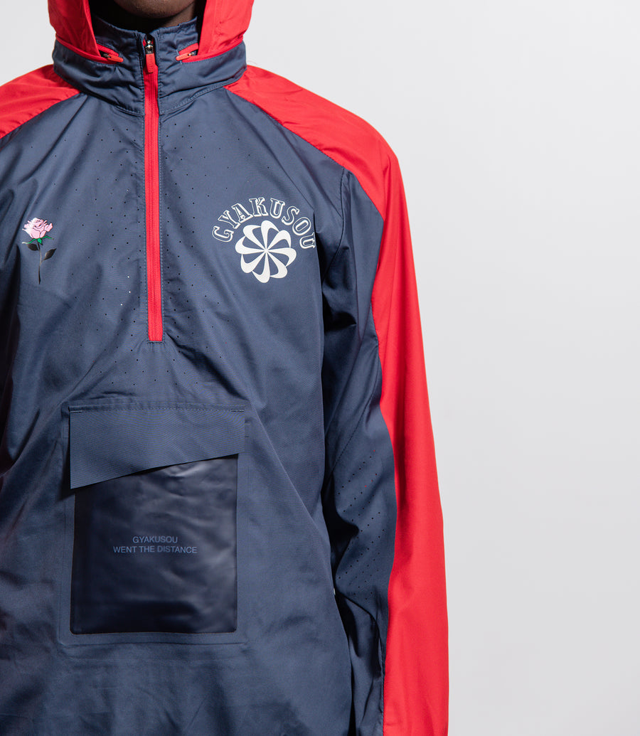 Gyakusou Half-Zip Hooded Jacket Thunder Blue/Sport Red/Sail CD7107-447