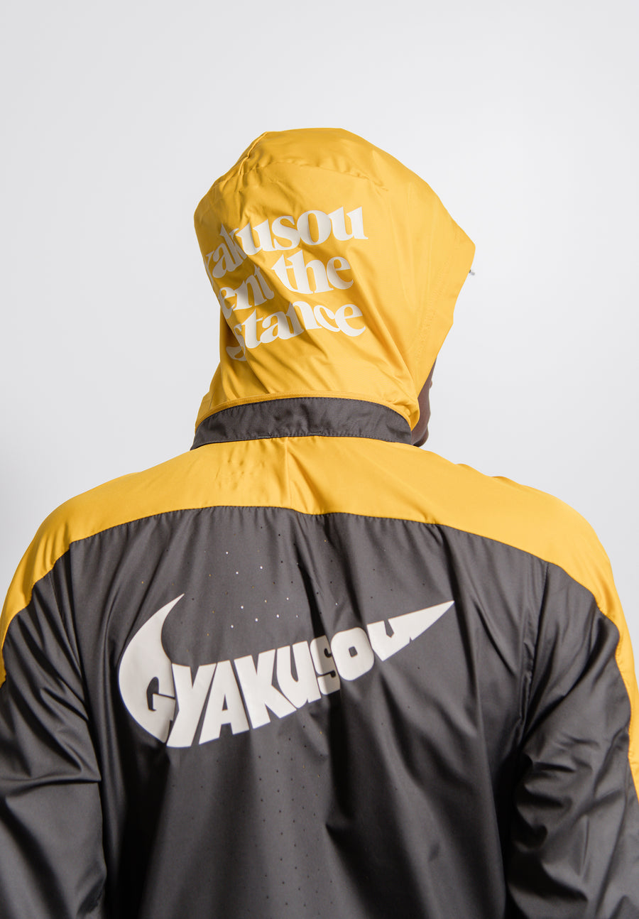 Gyakusou Half-Zip Hooded Jacket Deep Pewter/Mineral Yellow CD7107-274