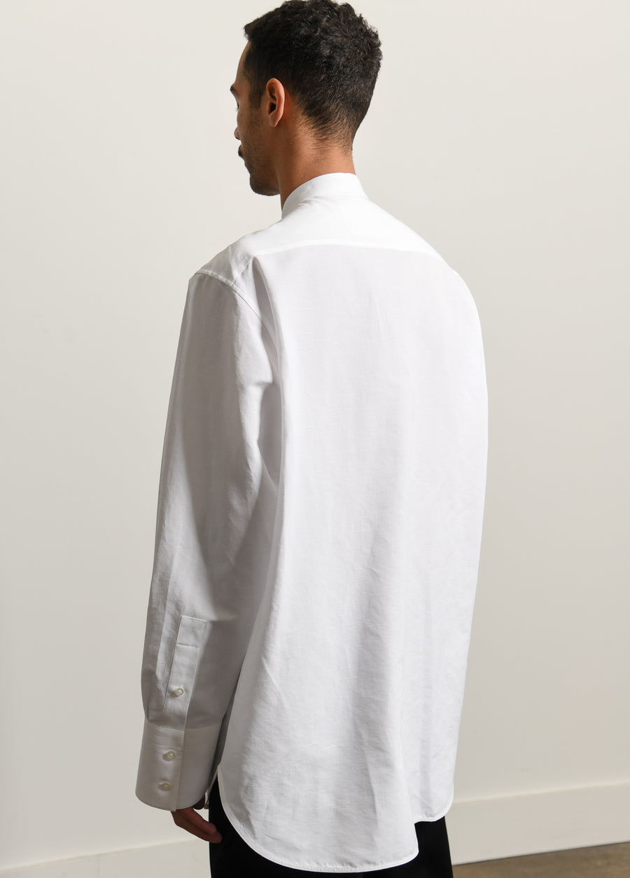 Achilles Malfile Cotton Linen Shirt Cream White