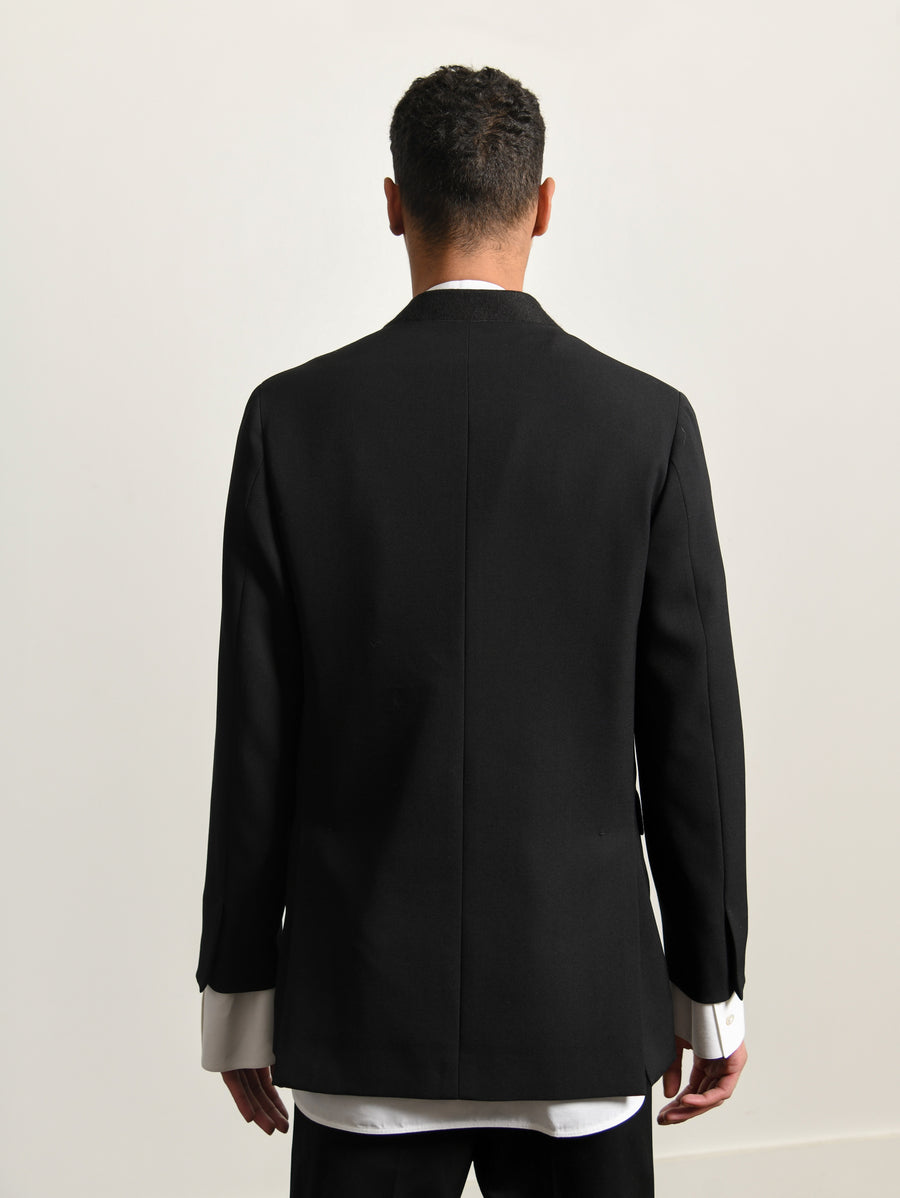 Anton Fluid Wool Gabardine Jacket Black
