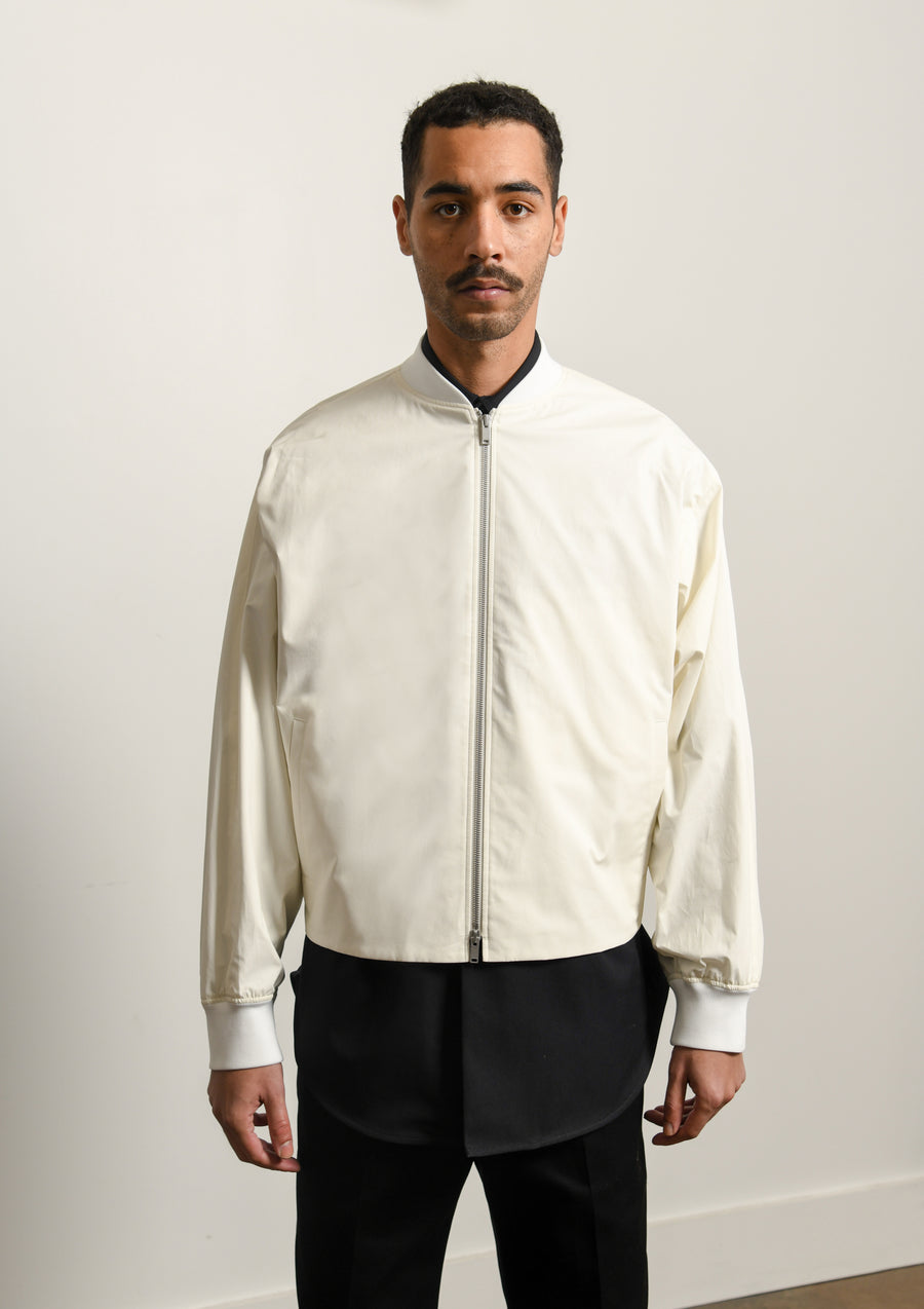 Alfred Cotton Poplin Blouson Cream