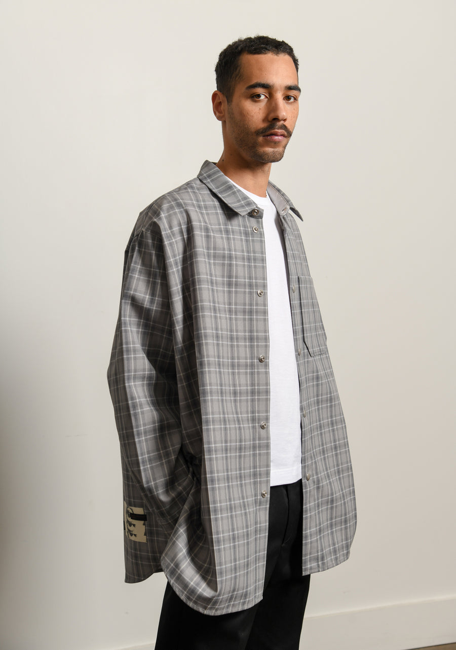 Wool Check Medic Shirt Mineral Grey