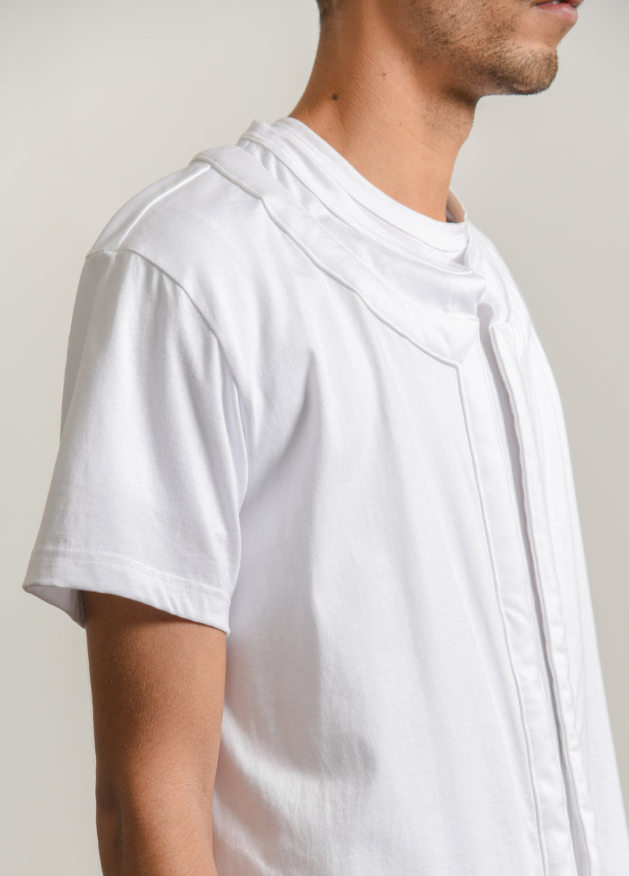 Cotton Jersey Tee White T011
