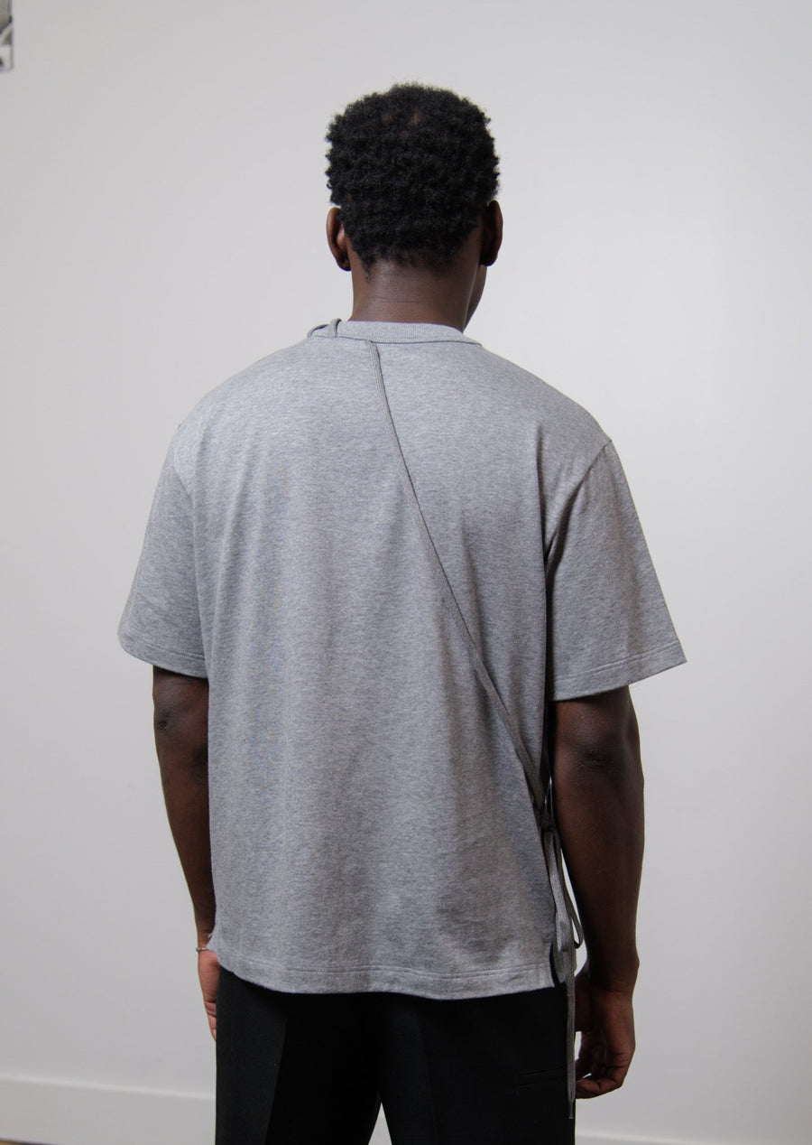 Laced Tee Grey