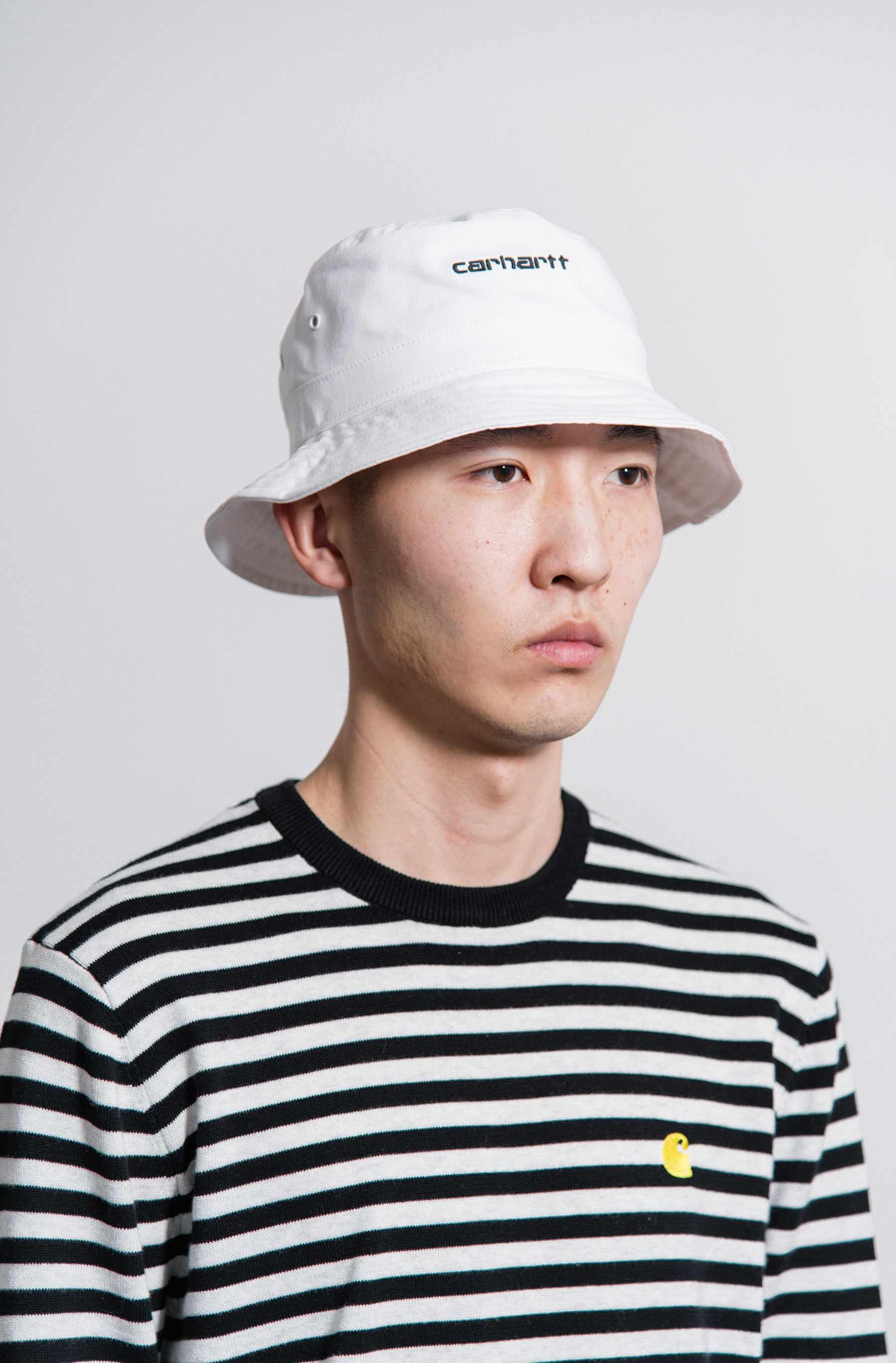 b2d9af44e9b8f Carhartt Work In Progress Script Bucket Hat White - NOMAD