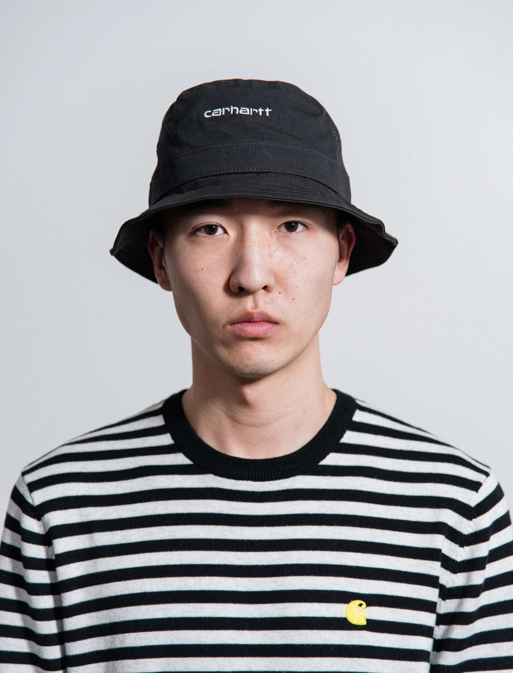 1ccb5161288ee Carhartt Work In Progress Script Bucket Hat Black - NOMAD
