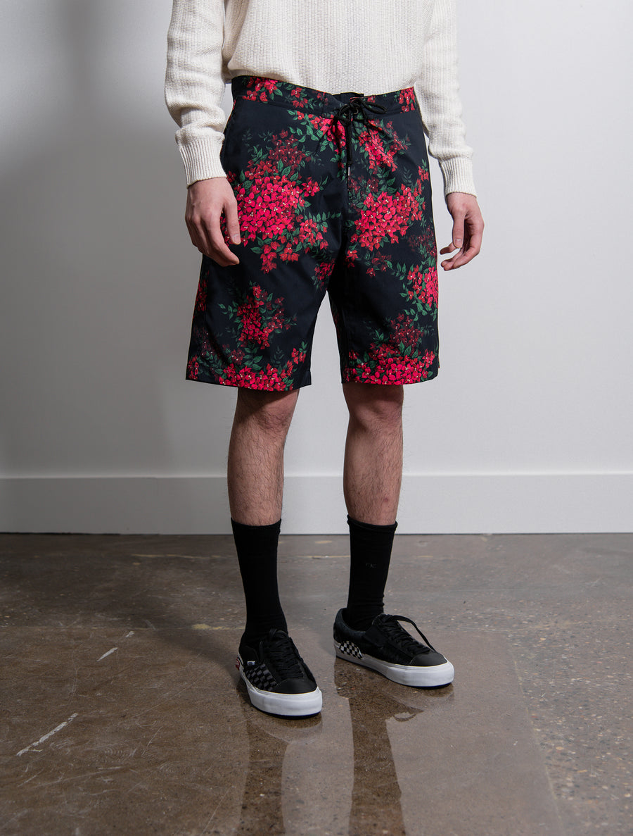 Bougainvellea Board Short Black