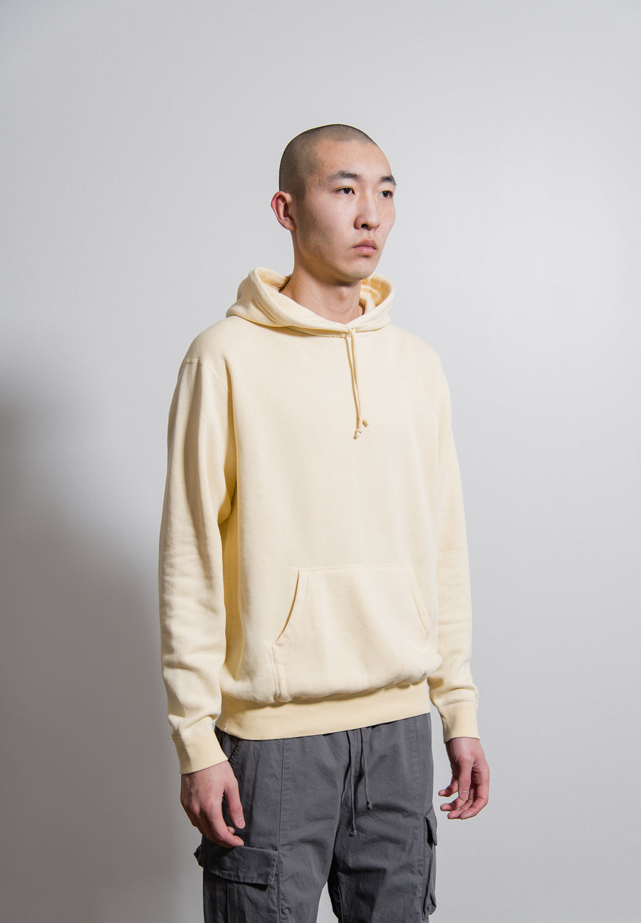 Vintage Fleece Hoodie Light Yellow