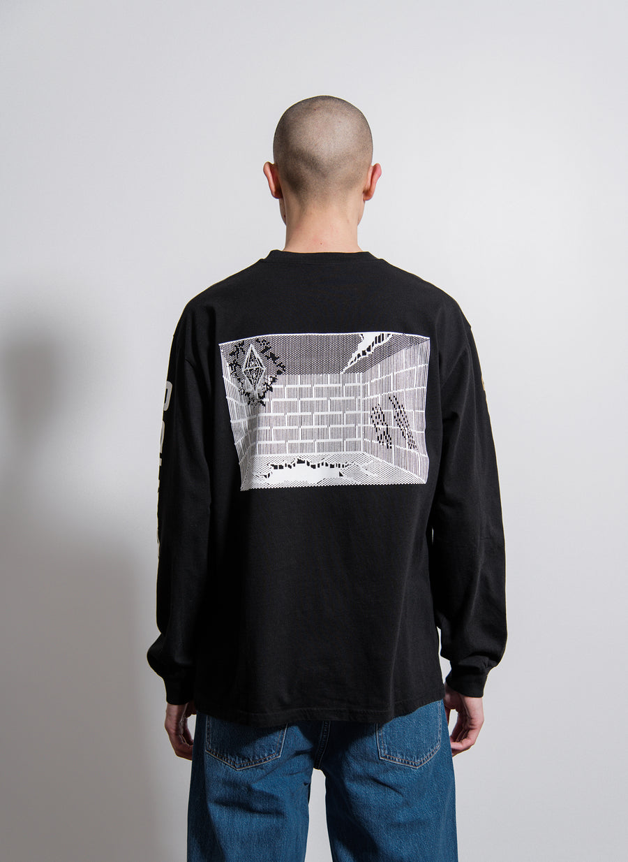Wizards L/S Tee Black