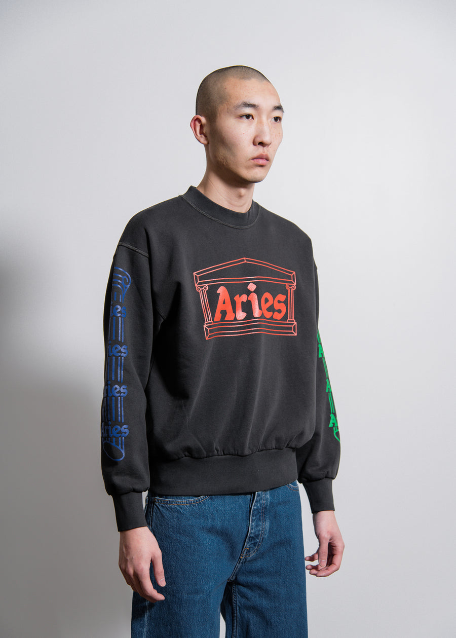 Column Crewneck Sweater Charcoal