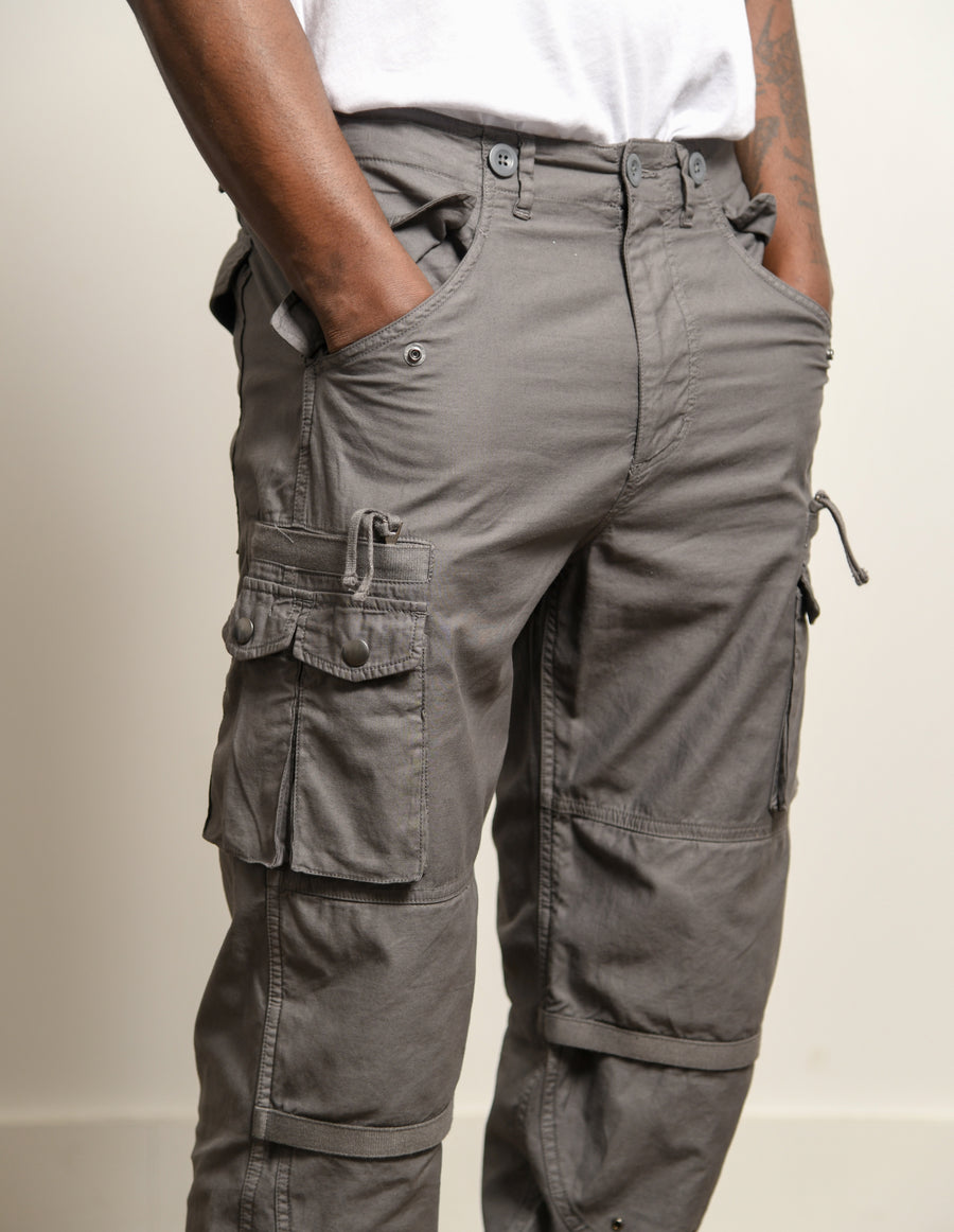 Back Sateen Canopy Cargo Pant Charcoal
