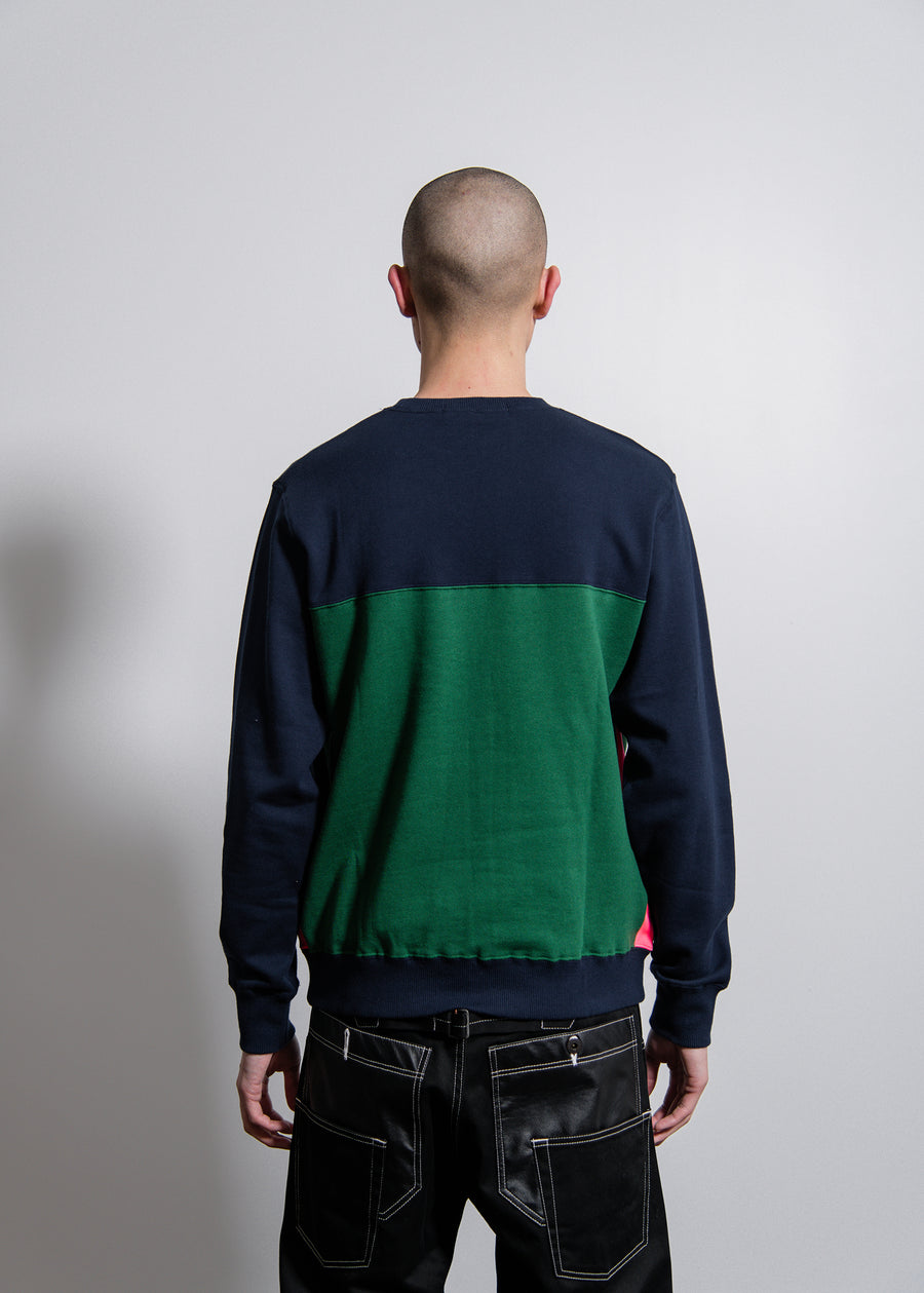 Sweater Navy/Green/Pink