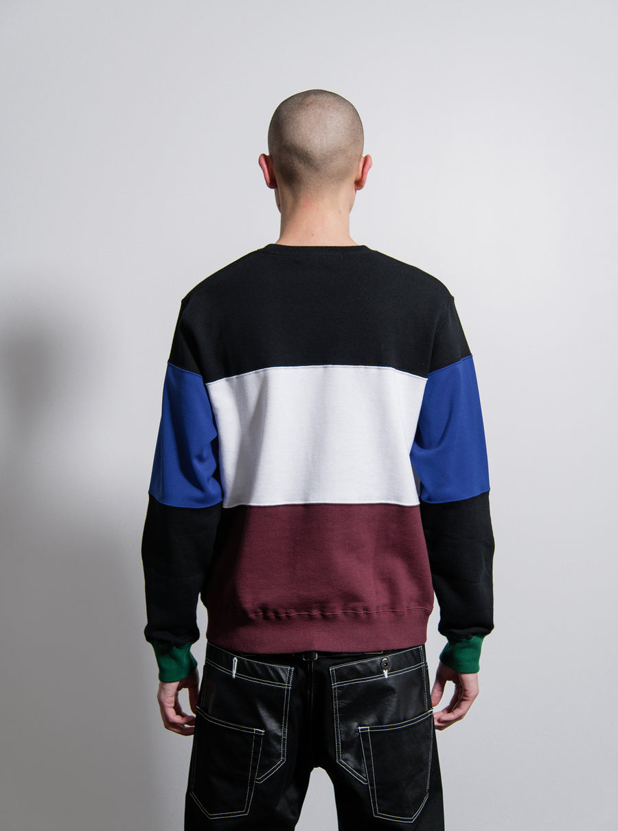 Sweater Black/White/Burgundy/Blue