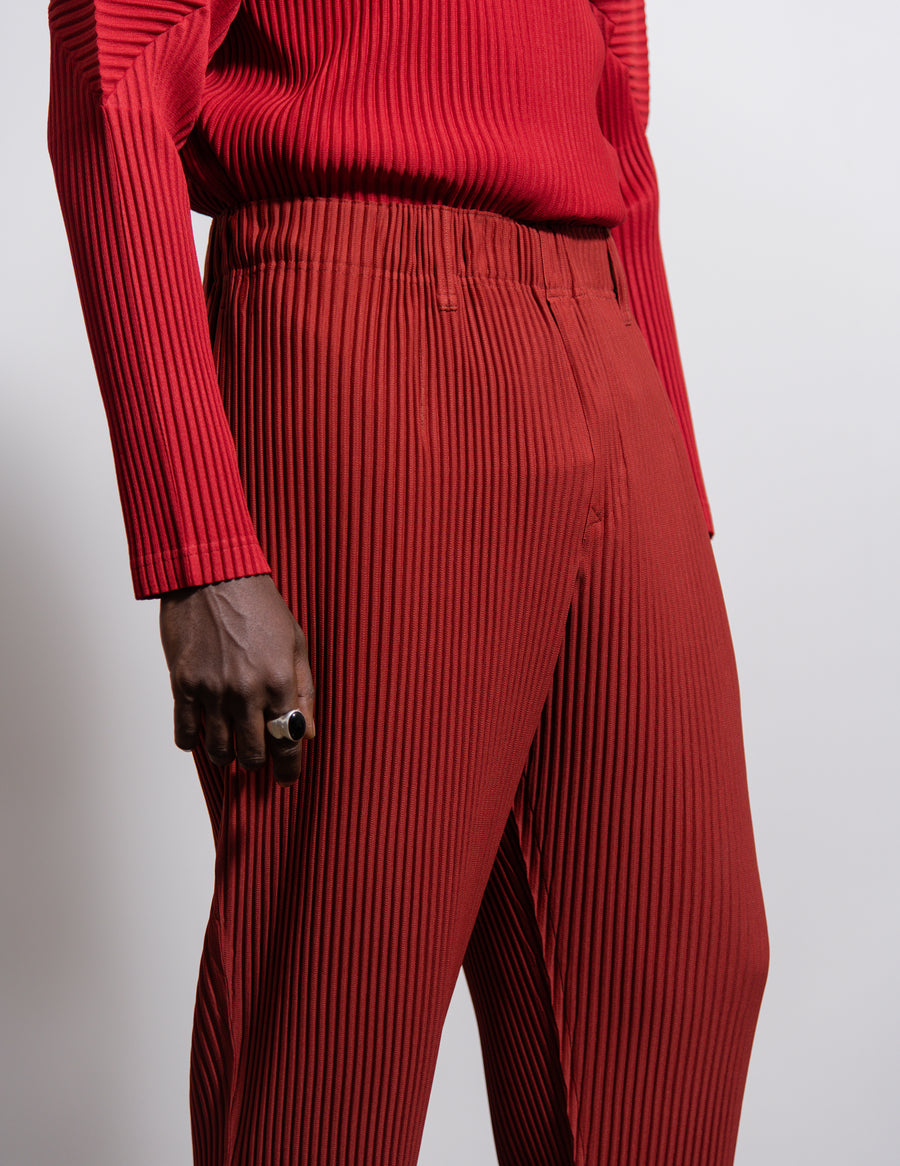 Tailored Pleats2 Trouser Cherry Red