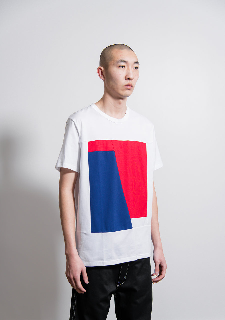 Short Sleeve Tee White/Blue/Red