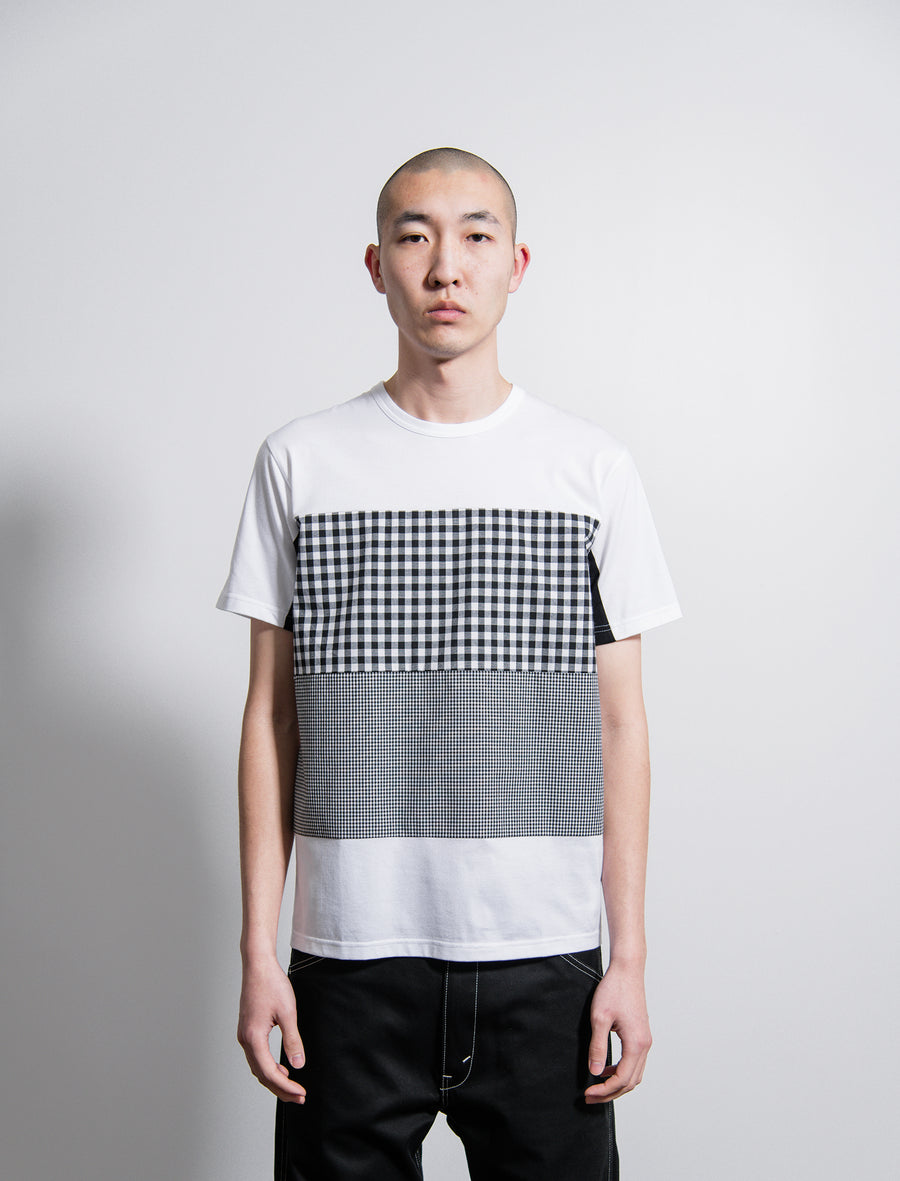 Short Sleeve Tee White/Black Check