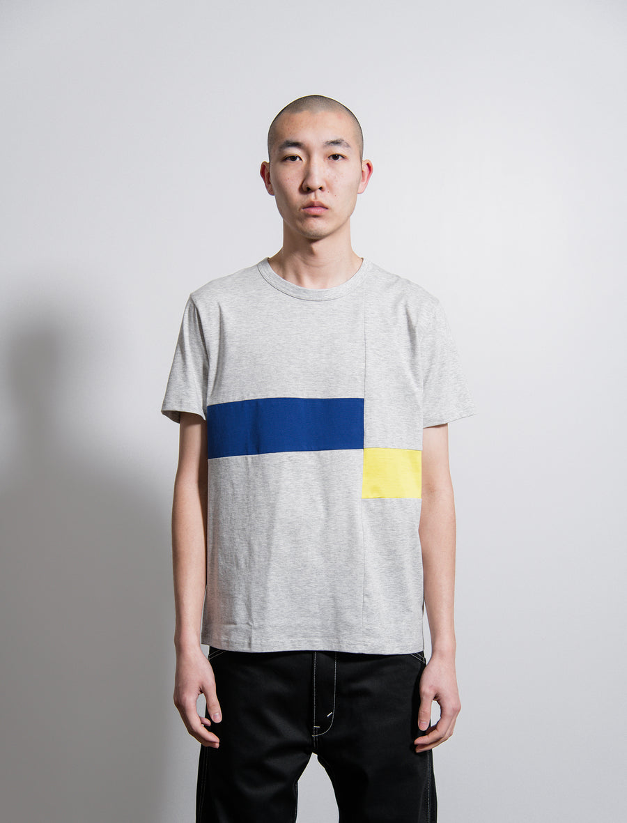 Short Sleeve Tee Grey/Blue/Yellow