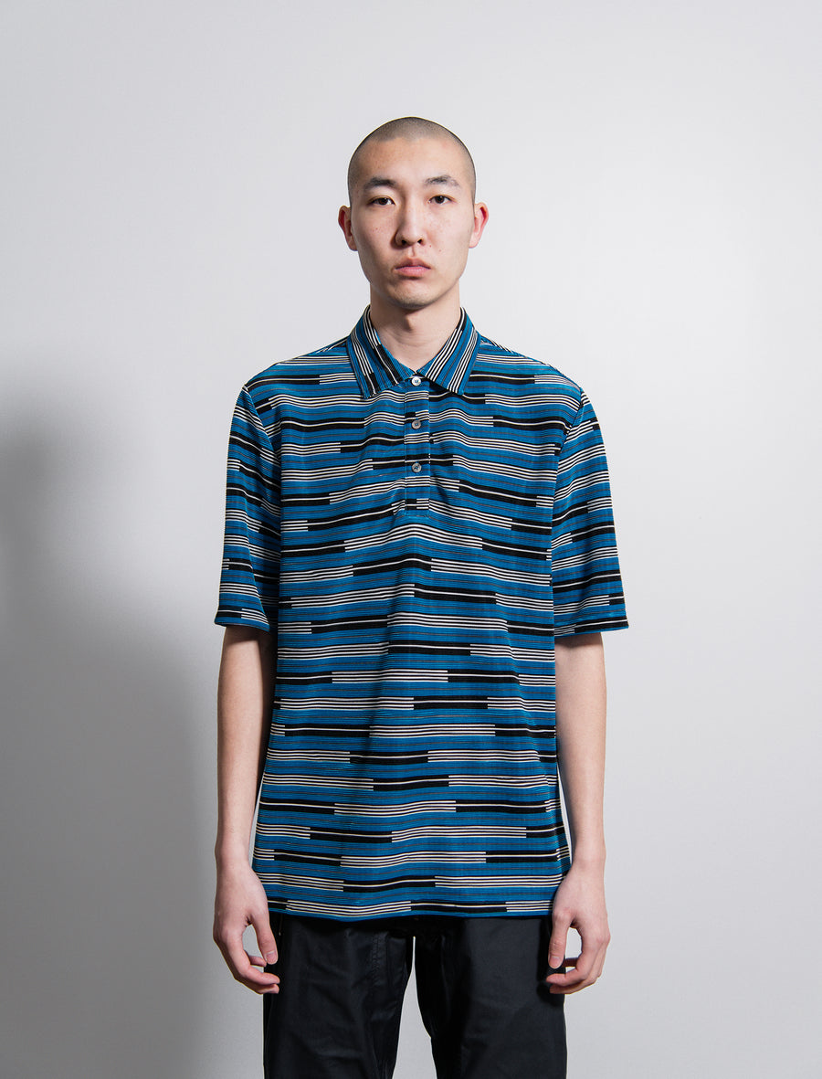 Olof Striped Polo Shirt Blue