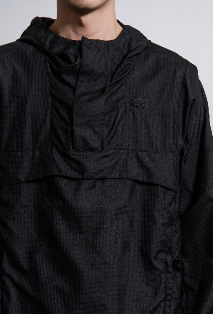 Wind Jammer Dot Air Pullover Jacket Black