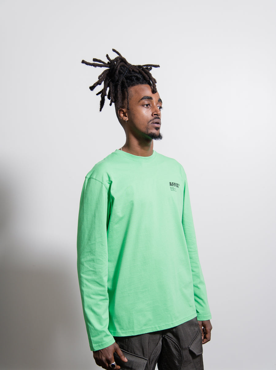 Long Sleeve Basic Tee Green