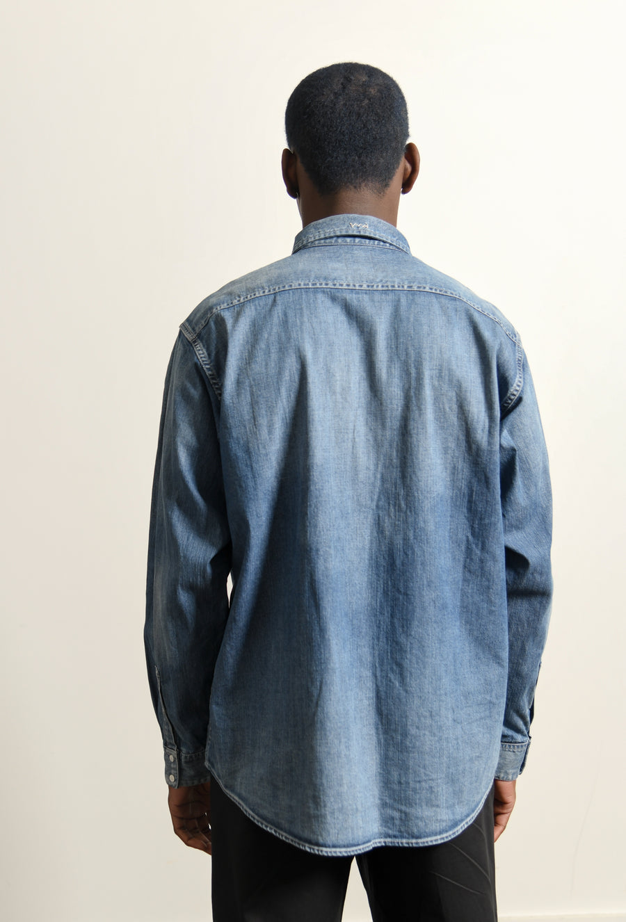 SS Handyman Shirt Damaged Indigo
