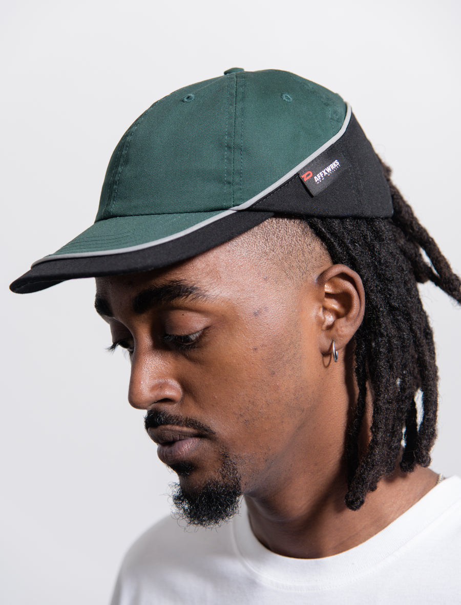 Worker Cap Green/Black
