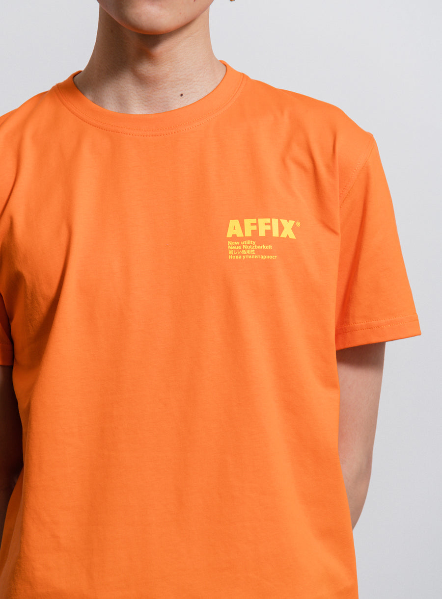 AFFIX S/S Standardise Tee Safety Orange/Yellow