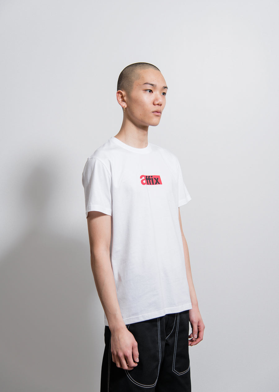 AFFIX S/S Duty Logo Tee White/Red